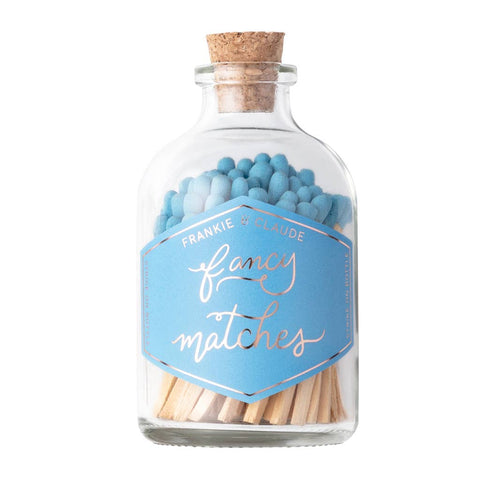 Fancy Matches: French Blue Small Match Jar