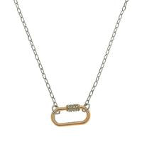 Leela Mini Oval Screw Lock Necklace