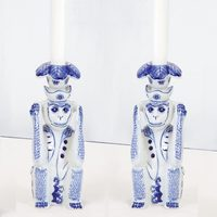 Candle Stick Pair- Hear No Evil