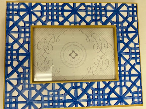 4x6 Gold Frame Handpainted Tile Pattern
