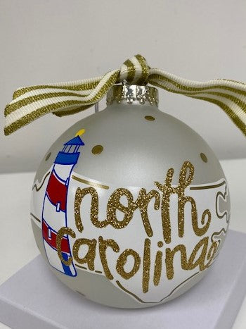 North Carolina Ball Ornament
