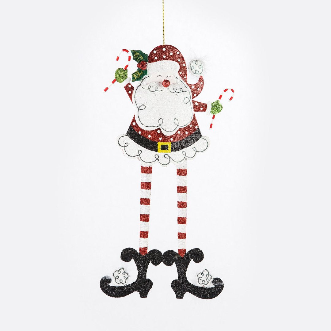 Long Leg Santa Ornament