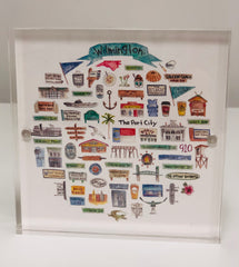 College Towns Framed Acrylic Pictures