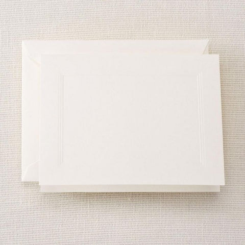 Crane and Co. Pearl White Panel Frame Notes
