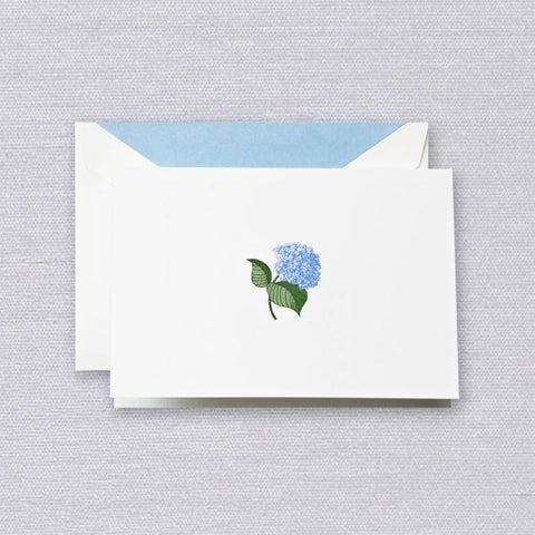 Crane and Co. Engraved Blue Hydrangea Note
