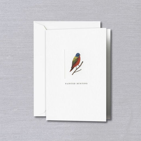 Crane and Co. Debossed Painted Bunting Notes