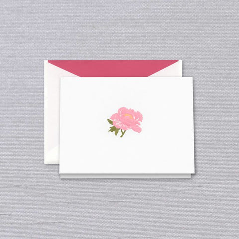 Crane and Co. Engraved Peony Note Card