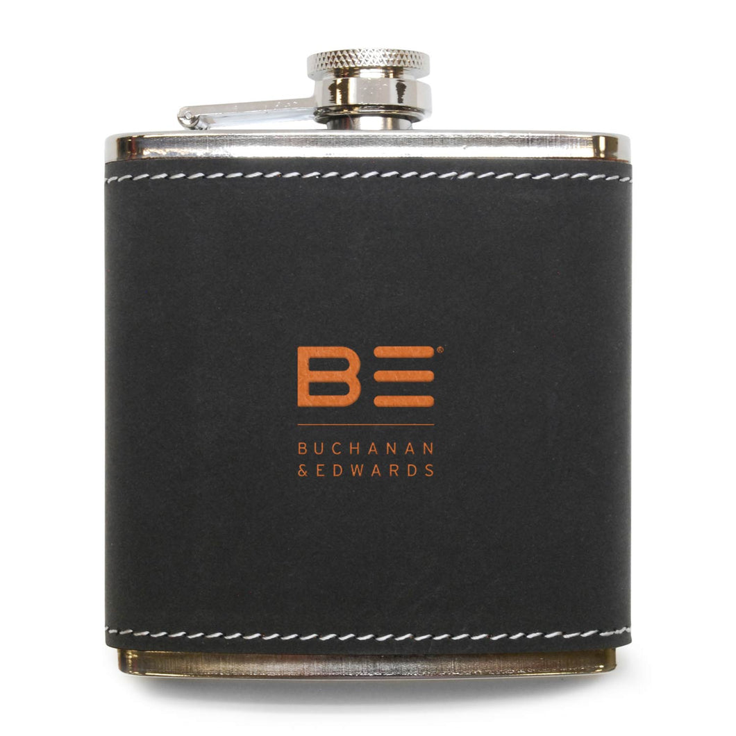 Grey Leather Flask