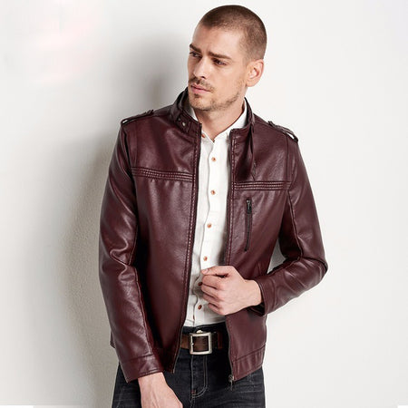 HTLB - Casual Faux Leather Jacket - Hot Or Not