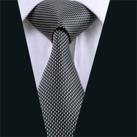 Geometric Silk Tie - Hot Or Not