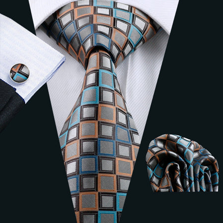 GRAVATA Men`s Silk Tie With Hanky and Cuff-links - Hot Or Not