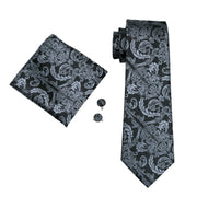 Mens Paisley Silk Tie, Hanky and Cuff-link Set - Hot Or Not