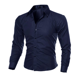 MarKyi - Mens Slim Fit Dress Shirt