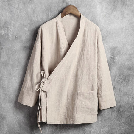 Asyabuykal - Traditional Linen Long Sleeve Top - Hot Or Not