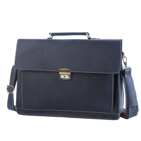 "OXLEAZ Unisex Leather Briefcase Fits 15"" Laptop - Hot Or Not"