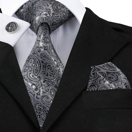 Mens Luxury Silk Tie, Hanky and Cuff-links Set - Hot Or Not