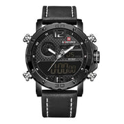 Mens Watches To Luxury Brand Men Leather Sports Watches NAVIFORCE Men's Quartz LED Digital Clock Waterproof Military Wrist Watch - Hot Or Not