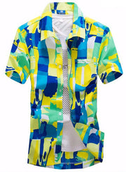 Color Clash Men's Shirt - Hot Or Not