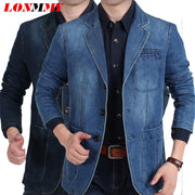 Jeans Denim Blazer Men - Hot Or Not