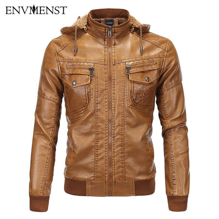 Men Zipper Leather Jacket - Hot Or Not