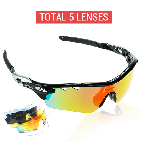 VICTGOAL Polarized Cycling Glasses UV400 Protect Bicycle Men Women Sunglasses Running Cycling Fishing Bike Eyewear 5 Len Goggles - Hot Or Not