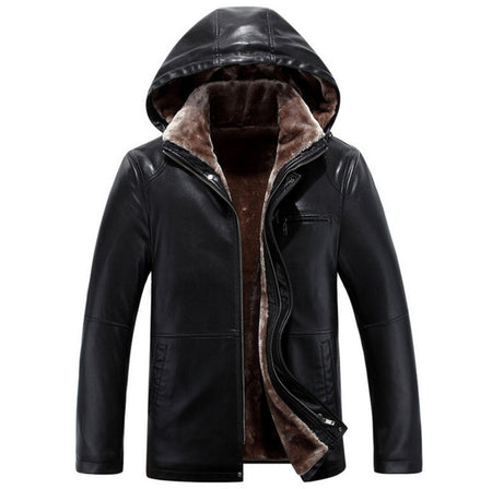 NEW - The Sub Zero - Faux Leather Hooded Jacket