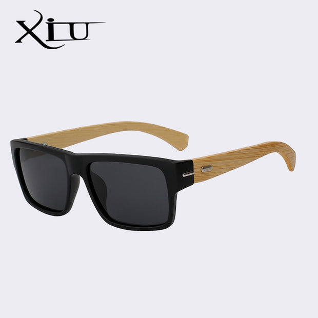 XIU Vintage Style Bamboo Glasses