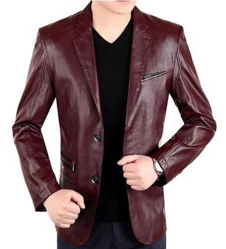 NEW ENGLAND - Mens Faux Leather Blazer