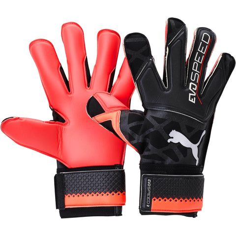 PUMA evoSPEED 3.5 GOALKEEPER GLOVES - PUMA BLACK-RED BLAST-PUMA WHITE