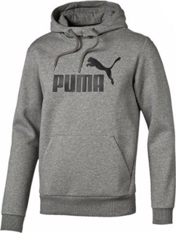 PUMA ESSENTIAL NO. 1 COTTON FLEECE HOODIE  HEATHER GRAY