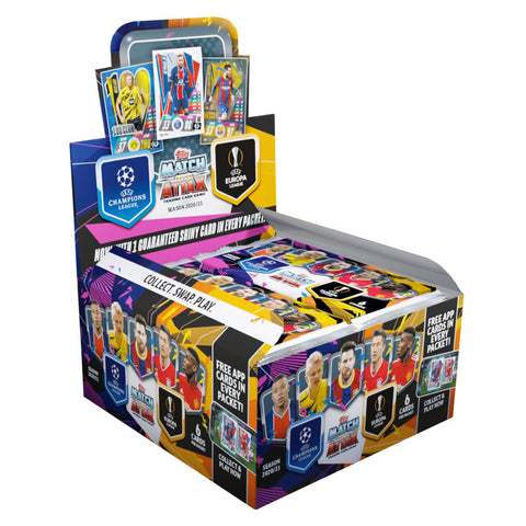 2020-21 TOPPS MATCH ATTAX CHAMPIONS LEAGUE CARDS – BOX (30 PACKS PER BOX) (6 CARDS PER PACK) (TOTAL OF 180 CARDS)