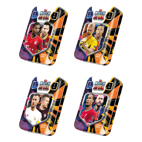 2020-21 TOPPS MATCH ATTAX CHAMPIONS LEAGUE CARDS – MINI TIN (45 CARDS + LE MESSI CARD)
