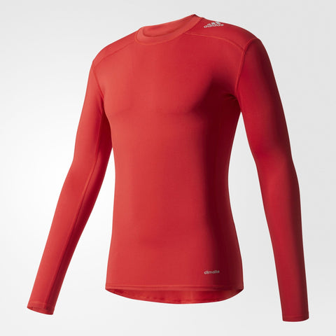 MEN'S TECHFIT BASE LONG SLEEVE TEE - RED