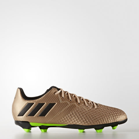 KIDS MESSI 16.3 FIRM GROUND BOOTS COPPER METALLIC/SOLAR GREEN