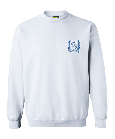 LDVA Crew Neck White Sweatshirt