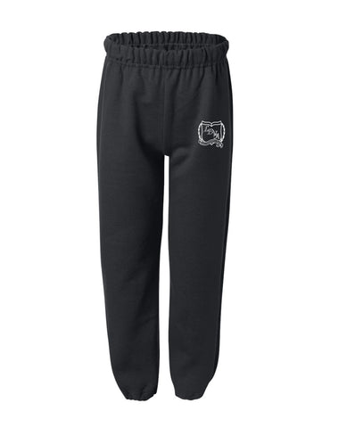 LDVA Fleece Black Jogging Pants With Elastic