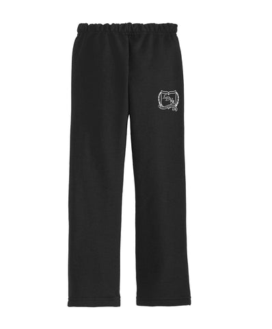 LDVA Fleece Black Jogging Pants No Elastic