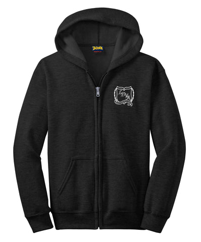 LDVA Full Zip Hooded Unisex Black Sweatshirt