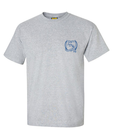 LDVA Unisex Phys. Ed. Grey T-Shirt Short Sleeve
