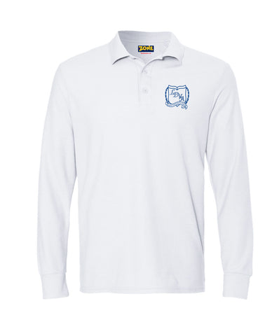 LDVA Girls Polo Stretch Long Sleeve