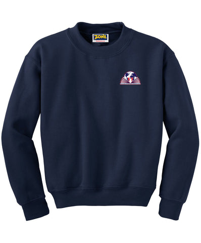 Michelangelo Intl. Crew Neck Navy Sweatshirt