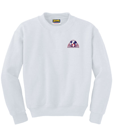 Michelangelo Intl. Crew Neck White Sweatshirt