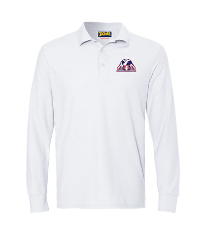 Michelangelo Intl. Girls Polo Stretch Long Sleeve