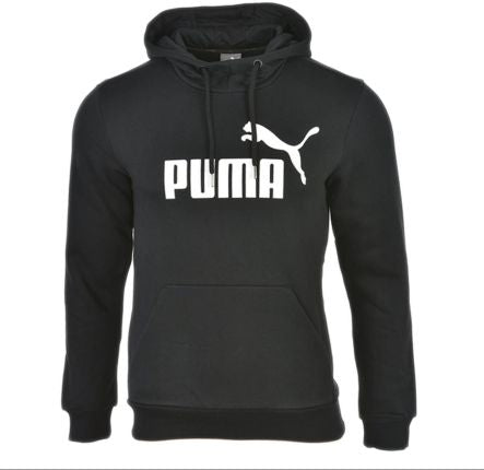 PUMA ESSENTIAL NO. 1 COTTON FLEECE HOODIE BLACK