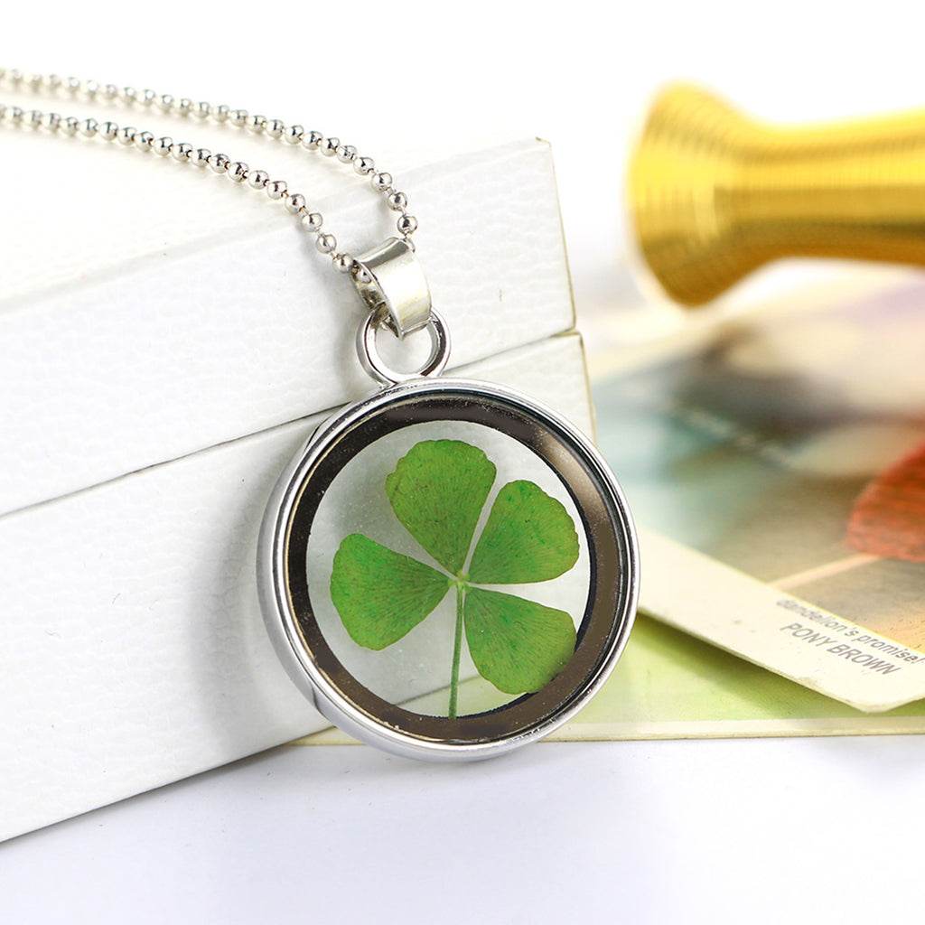 four pendant leaf products maxi clover novelty silver image product necklace