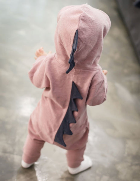 70e62b4303a5 ... Dinosaur Romper with hood - All Things Isabella ...