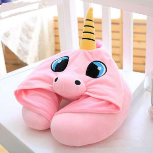 [Harajuku Toy Shop] Cute Brand New Comfy Hooded Neck Pillow Perfect For Travelling - Neko Suki,