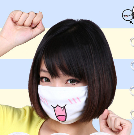 Free Kawaii Japanese Anime Emoji Cotton Face Mask Cover