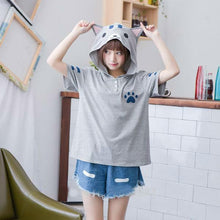 [30% OFF] Neko Atsume Kawaii Hooded T-Shirt made with 100% Organic Cotton - Neko Suki,