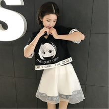 "[40% OFF] Japanese Streetwear ""The Quiet Girl"" Graphic Printed T-Shirt [Skirt Included] - Neko Suki,"
